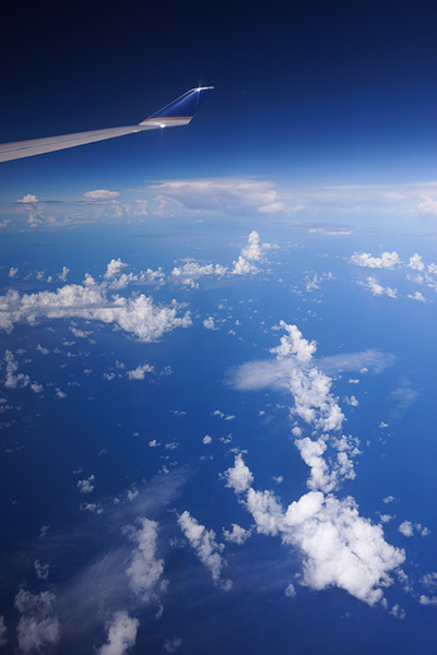 機窓から太平洋