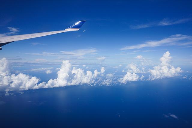 機窓から太平洋を撮る