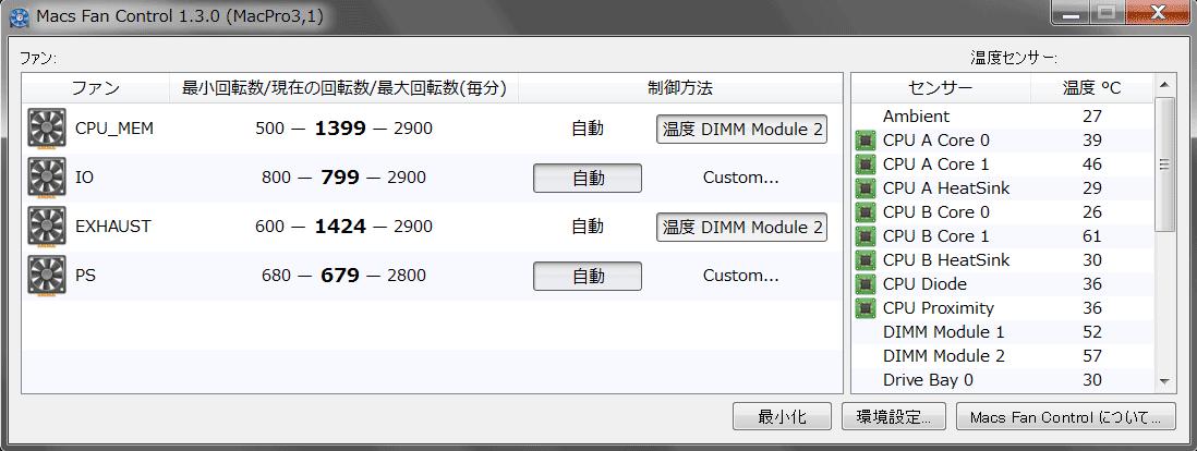 Windows7の設定画面