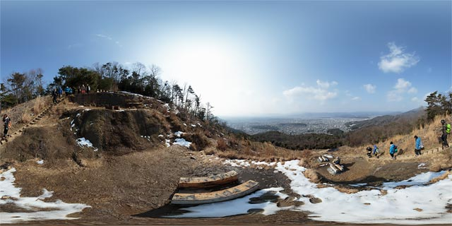 大文字山のパノラマ