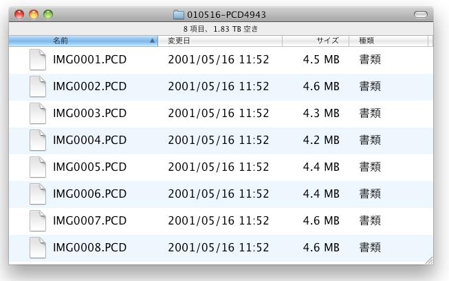 photoCD data