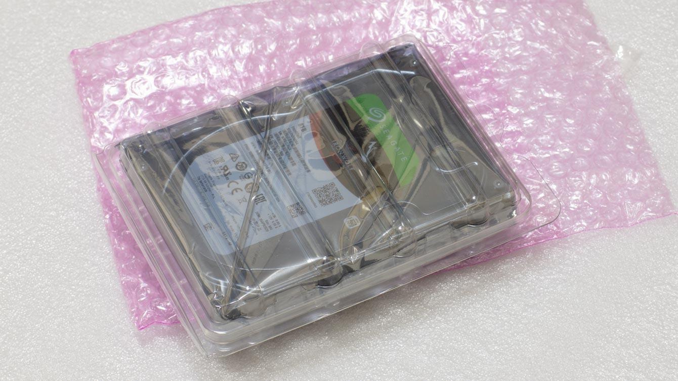 ハードディスクの梱包